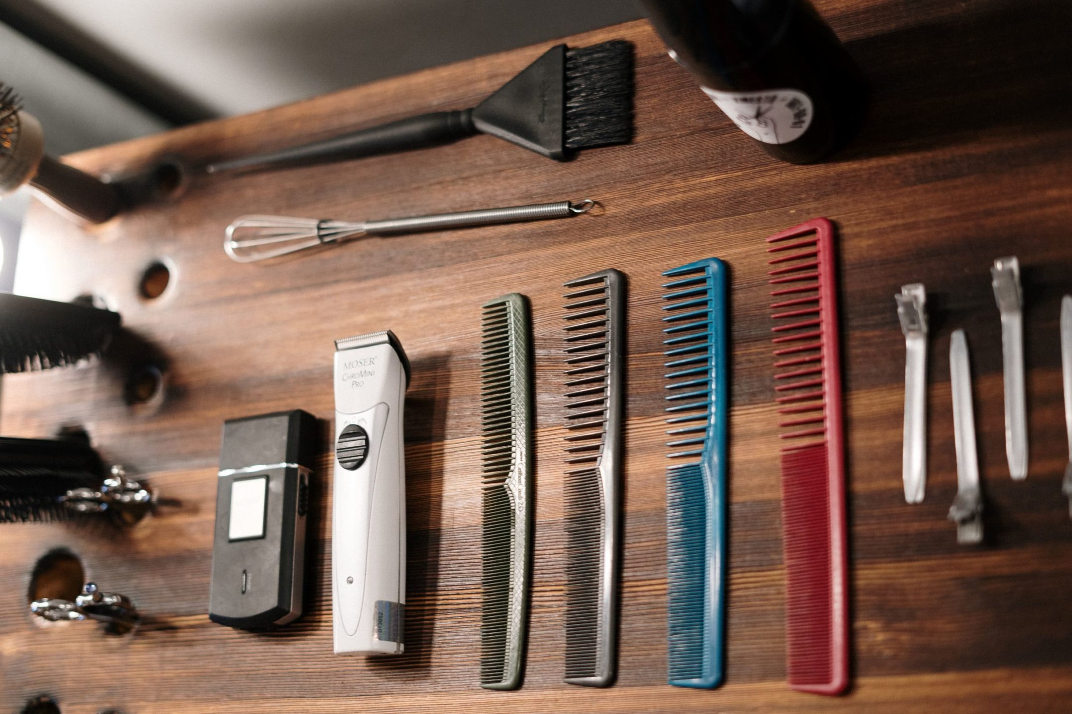 hair salon, haircut tools, scissors