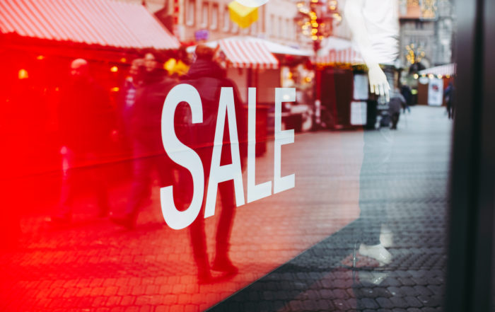 Retail stores sales sign